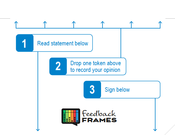 Feedback Frames cover with instructions letter size A4